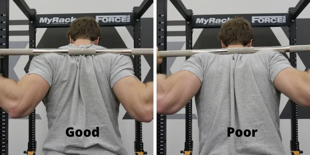 Low-Bar Squat Bar Placement