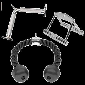 A2ZCARE Combo Tricep Press Down Cable Attachment