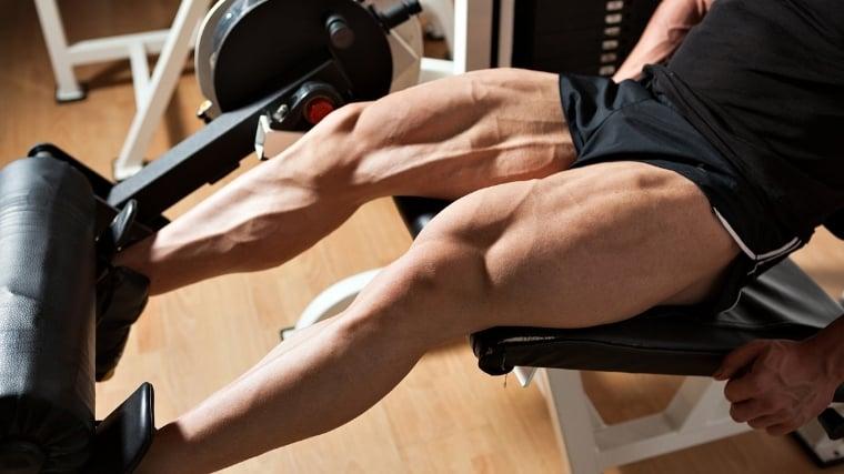 Man doing leg extension