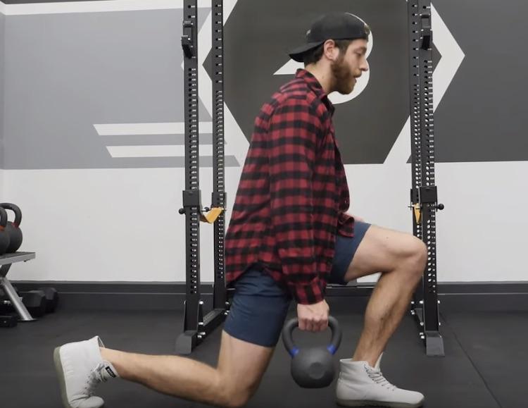 Offset Grip Split Squat