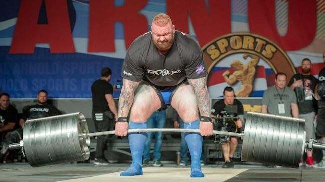 Hafthor Bjornsson Deadlifts at the Arnold Strongman Classic