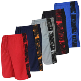 Real Essentials Boys' 5-Pack Mesh Basketball Shorts