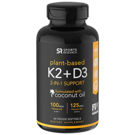 Sports Research Plant-Based K2+D3