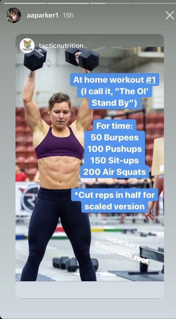 Alex Parker Workout