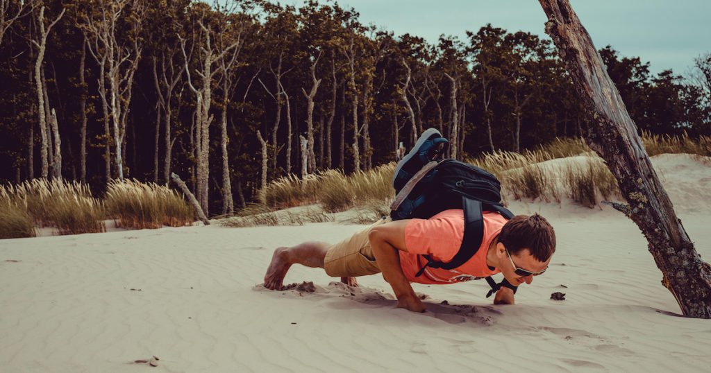 Backpack Pushup