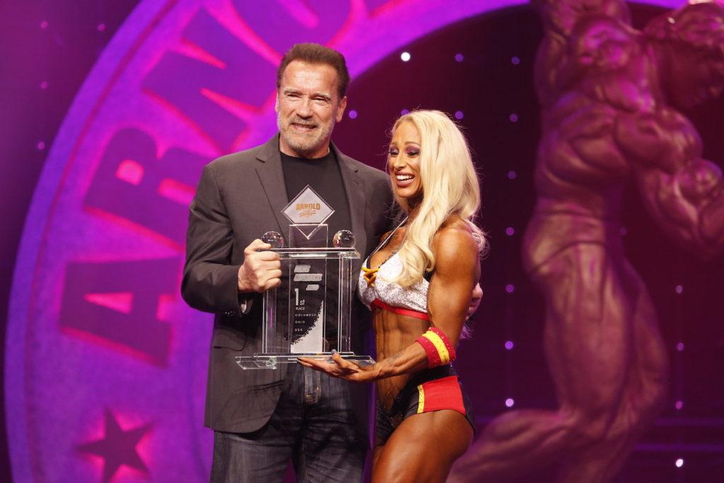 Fitness International Winner Missy Truscott and Gov. Arnold Schwarzenegger