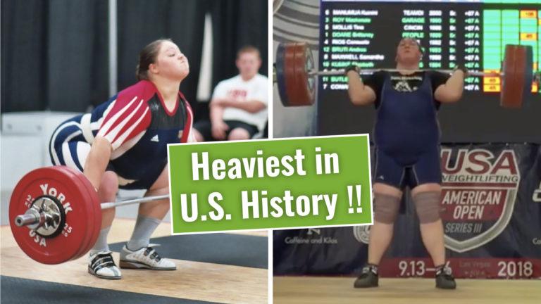 Heaviest American Women's Snatch and Clean & Jerk
