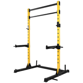 HulkFit Multi-Function Adjustable Power Rack Exercise Squat Stand