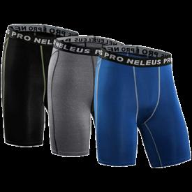 Neleus Men's 3-Pack Compression Short