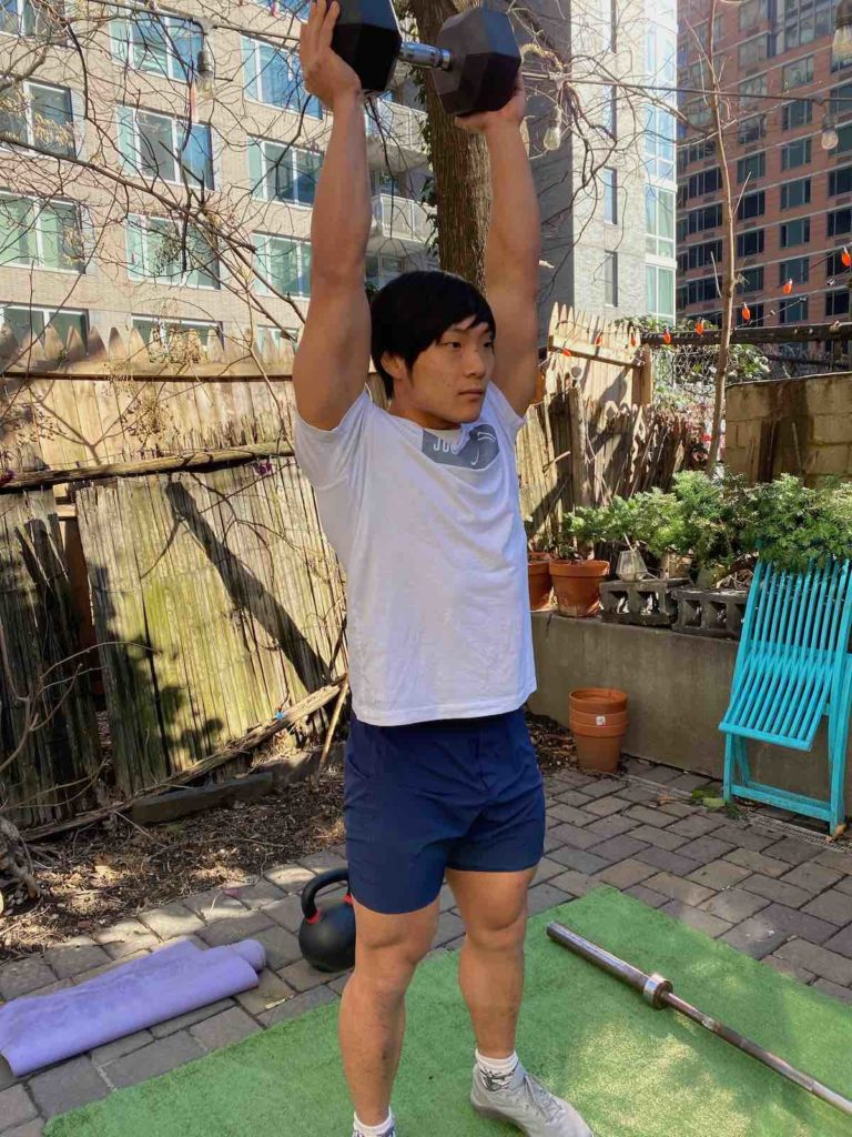 Overhead Press with Dumbbell