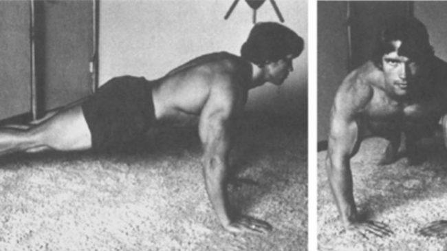 arnold schwarzenegger push up