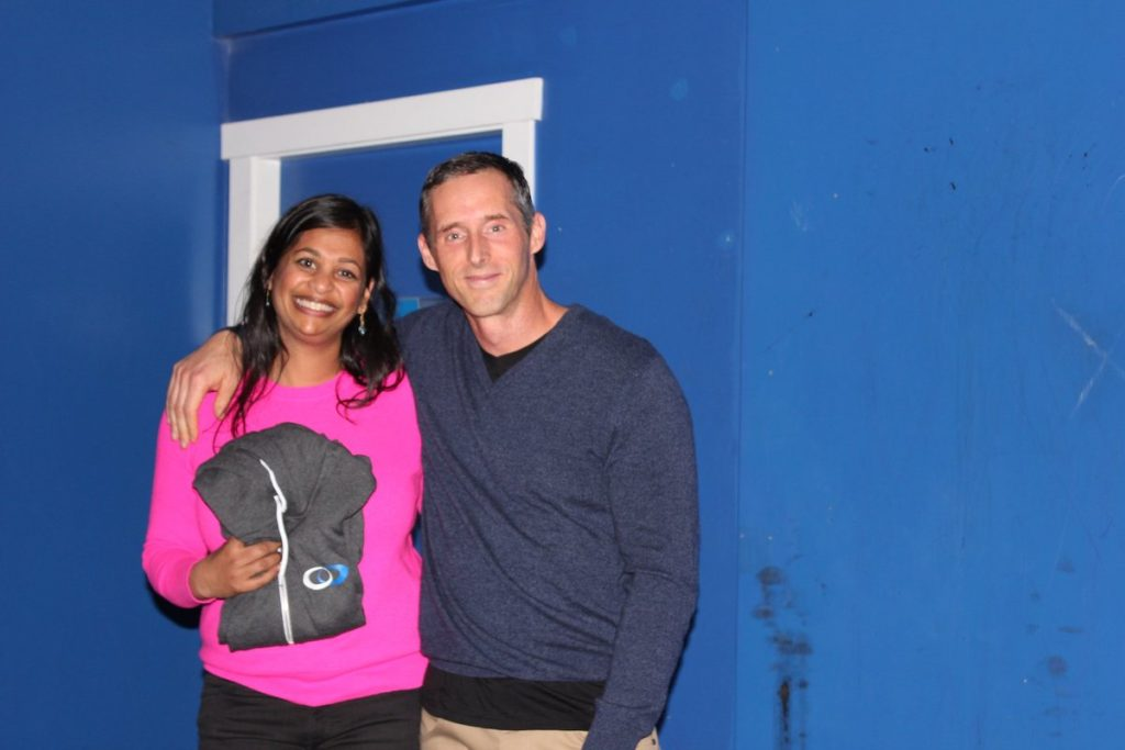 Ranjini Rajasingham (left) and Andrew Swartz