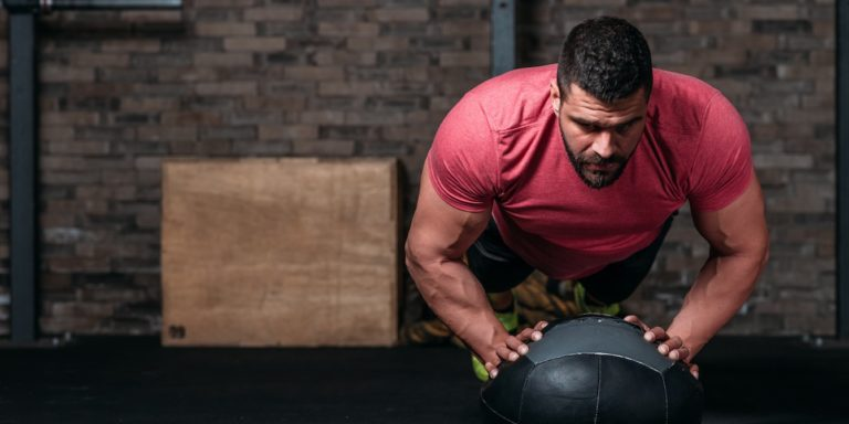 medicine ball push up