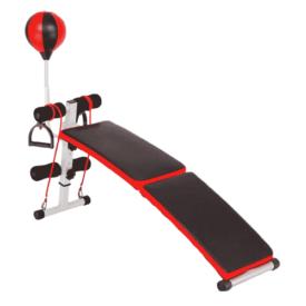 Tfwalog Adjustable Incline Curved Sit-Up Bench Board