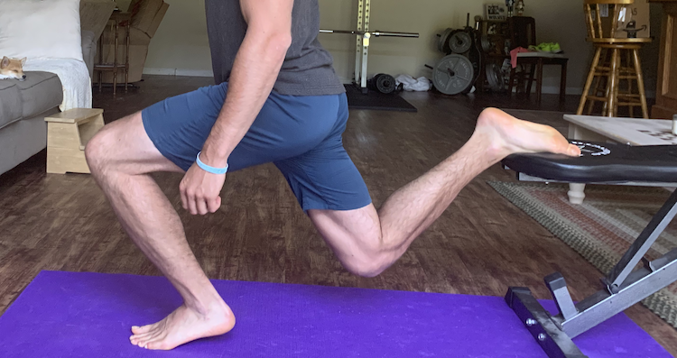 Bulgarian Split Squat Heel Elevated