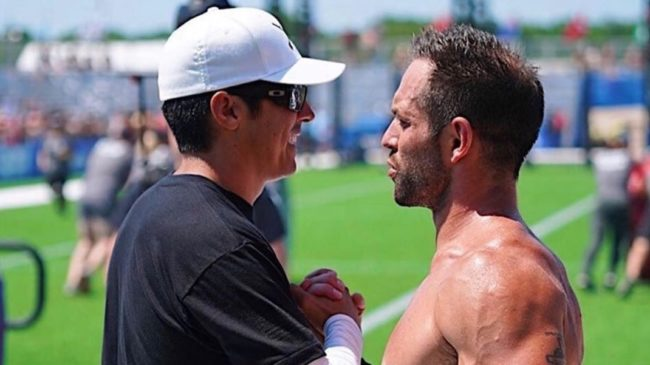 Rich Froning and Dave Castro