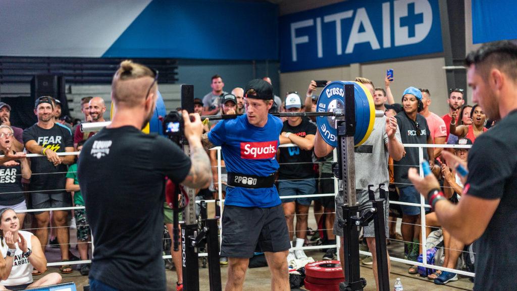 Logan Aldridge squatting
