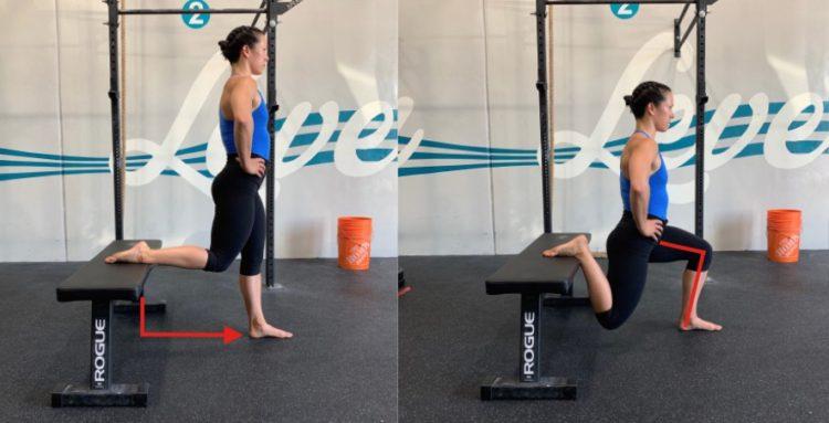 front rack split squat two
