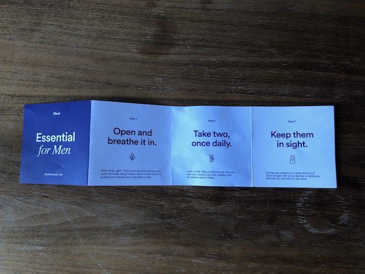 ritual mens multivitamin pamphlet