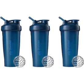 Blender Bottle Classic Loop Top Shaker Bottle, 3 Pack