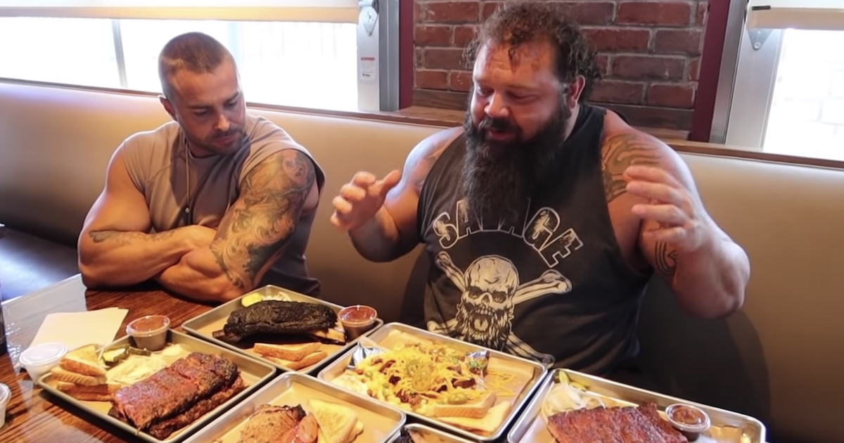 Strongman Robert Oberst Crushes 12,000 Calorie Cheat Meal - BarBend