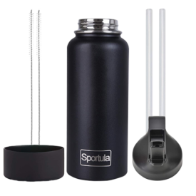 Sportula Insulated Water Bottle With Straw Lid