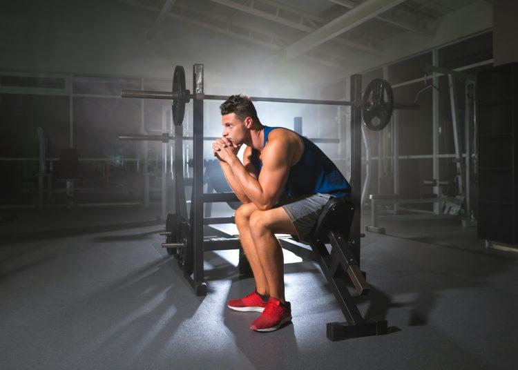 Pensive Weightlifter