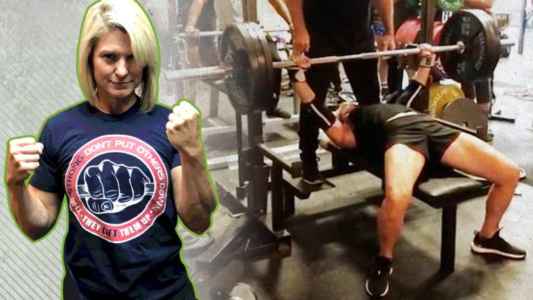 Jen Thompson 330-Pound Raw Bench Press