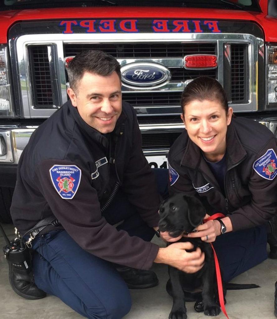 Carol Mezen firefighting