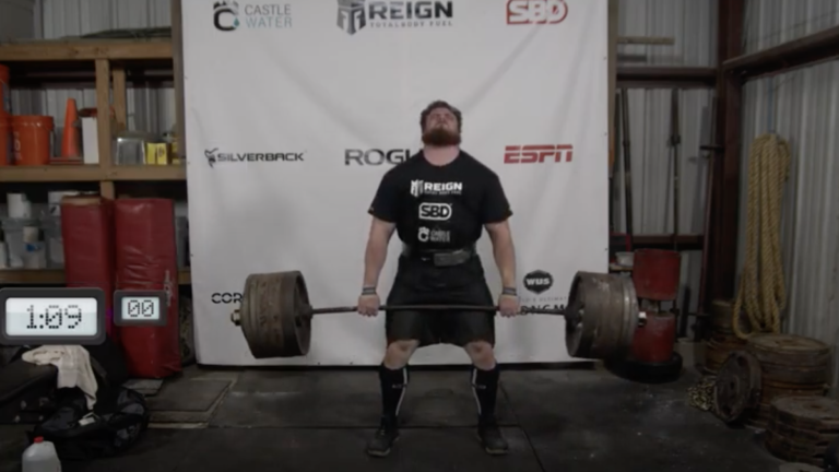 Trey Mitchell deadlift world's ultimate strongman