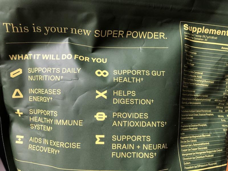 plantrise supergreens72 benefits