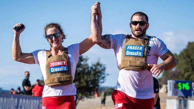 Mat and Tia cross the CrossFit Games finish