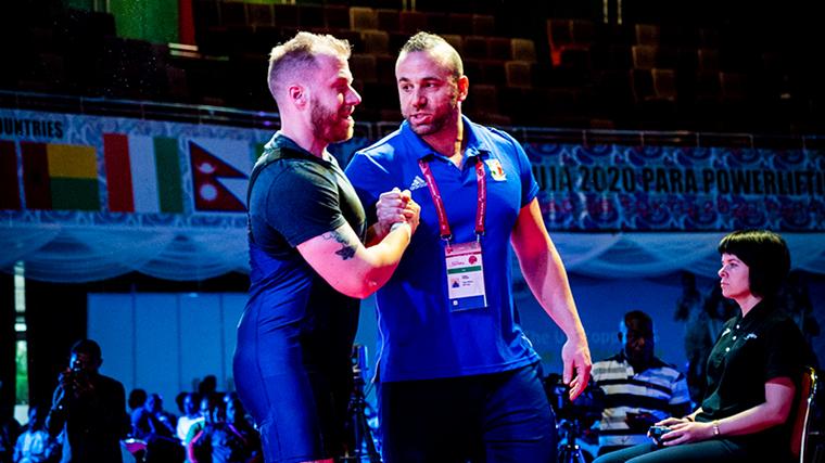 Matteo Cattini and coach