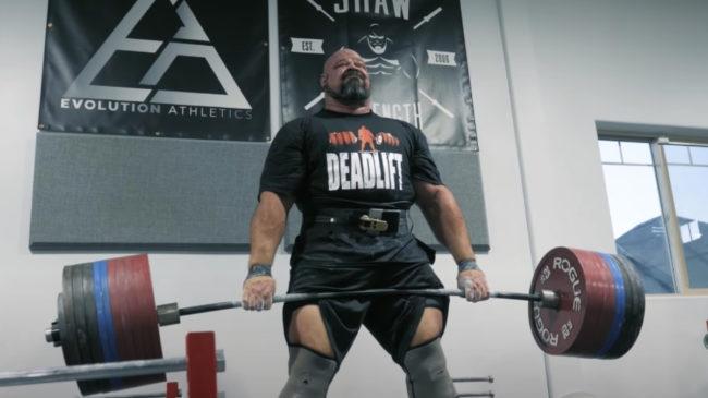 Brian Shaw 1,091-pound Deadlift