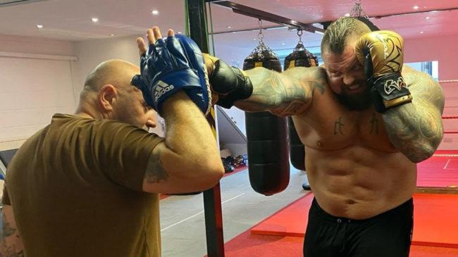 Eddie Hall Boxing