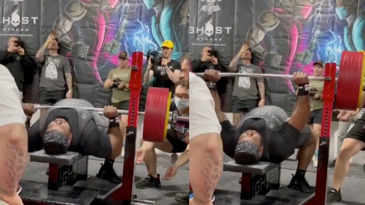 Julius Maddox Bench Presses 355 Kilograms Raw for New All-Time World Record - BarBend