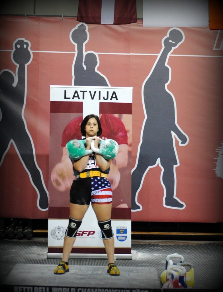 Kim Fox Competing in Kettlebell Sport