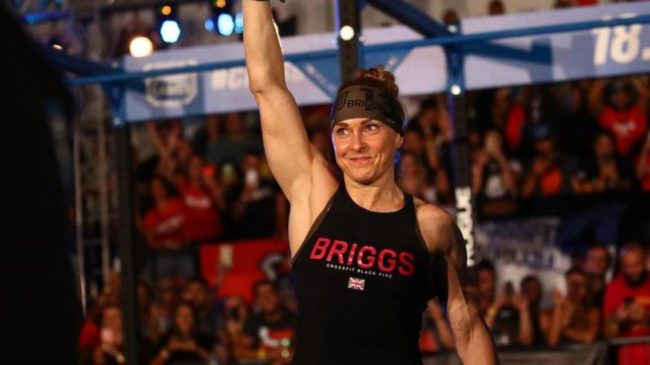 Sam Briggs waving to the crowd