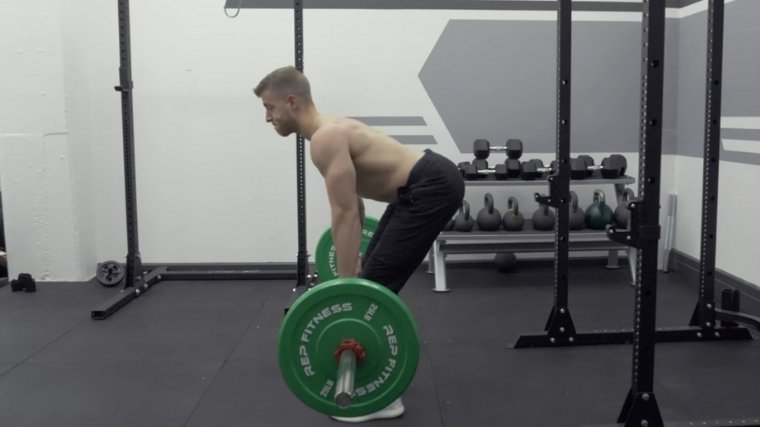 Bent-Over Row Hinge Position