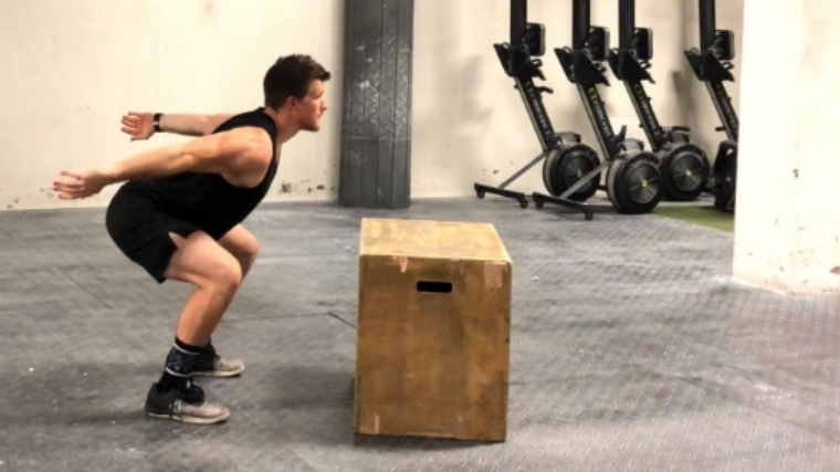 Box Jump Loaded Position