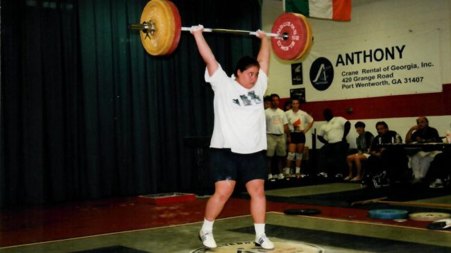 Young Cheryl Haworth Clean and Jerk