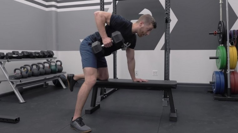 Dumbbell Row Row the Weight