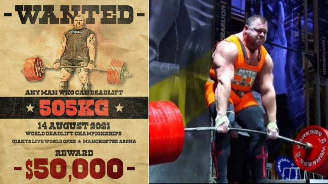 Giants Live 505-Kilogram Deadlift Challenge