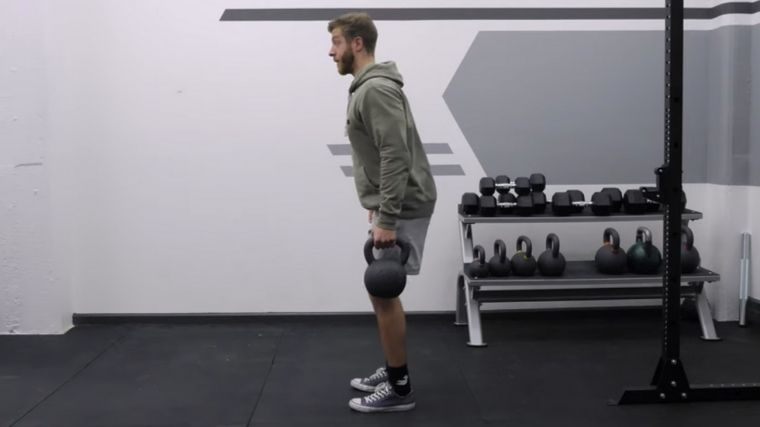 Suitcase Deadlift Stand Up