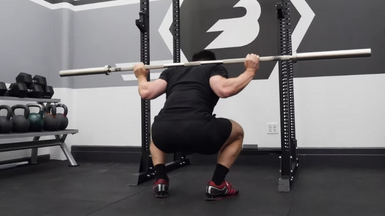 Taylor Atwood Doing Back Squat