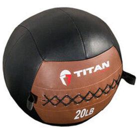 Titan Fitness Leather Medicine Ball
