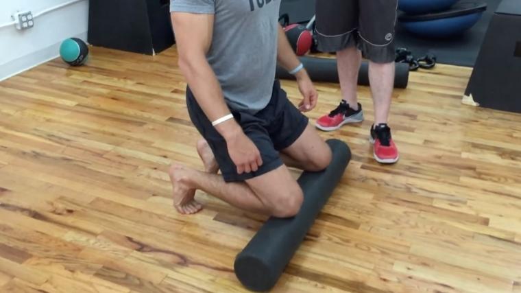 Kneeling Calf Stretch