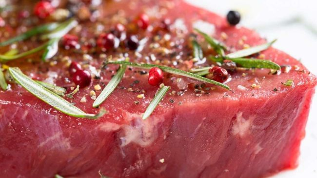 Steak, a good source of protein