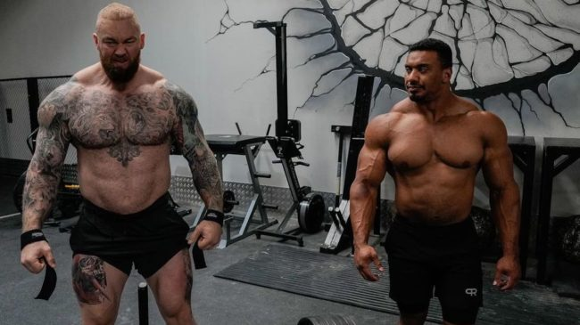 Thor Björnsson and Larry Wheels