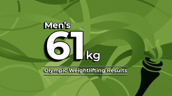 Men's 61kg 2020 Olympic Weightlifting Results